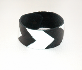 Black & White Chevron Cuff Bracelet 