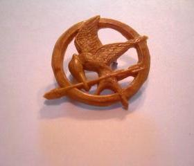 Gold (colored) Mockingjay Pin - Hand made